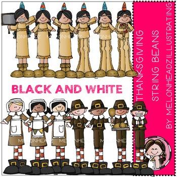 Thanksgiving Stringbeans by Melonheadz black BLACK AND WHITE
