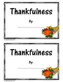 Thanksgiving Student Activity Book