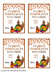 Thanksgiving Student Gift Tags & Treat Bag Toppers Free EDITABLE