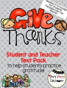 Thanksgiving Student/Teacher Emergent Readers/Pocket Chart