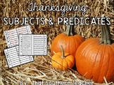 Thanksgiving Subjects & Predicates