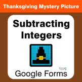 Thanksgiving: Subtracting Integers - Mystery Picture - Goo