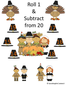 Thanksgiving Subtraction Bump Game