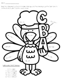 Thanksgiving Subtraction Coloring Page