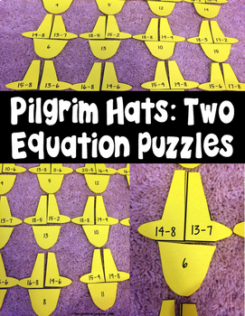 Thanksgiving Subtraction Fact Math Puzzles