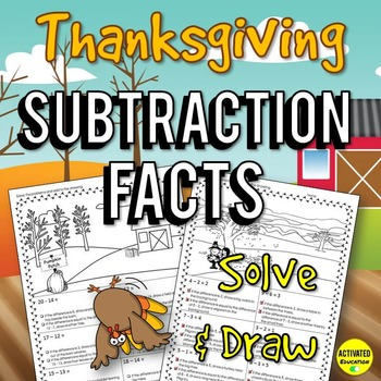 Thanksgiving Math: Subtraction Facts