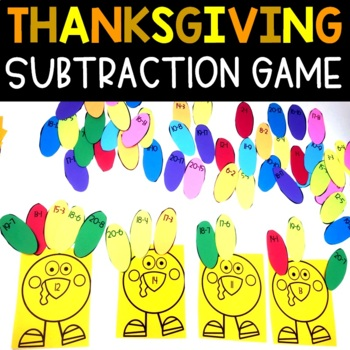 Thanksgiving Subtraction Facts