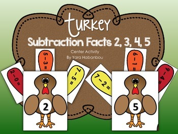 Thanksgiving Subtraction Facts Within 10 {Build a Turkey Interactive Activity}