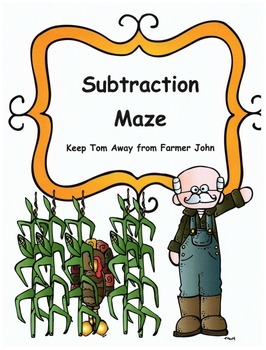 Thanksgiving Math Subtraction Maze Activity