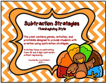 Thanksgiving Subtraction Pack