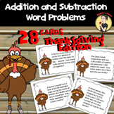 Thanksgiving Math Word Problem Task Cards
