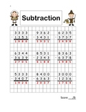Thanksgiving Subtraction with Regrouping