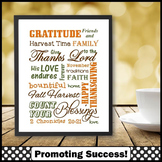 Religious Education, Thanksgiving Poster Gratitude Motivational Quote