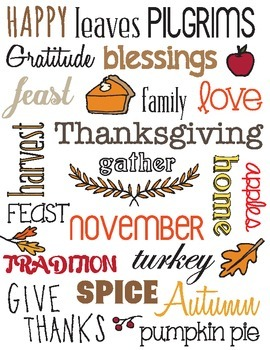 Thanksgiving Subway Chart - Vector (can be resized without