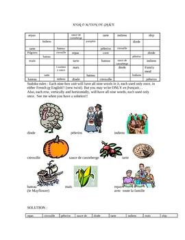 Thanksgiving Sudoku - French