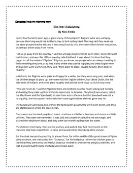 Thanksgiving Super Pack:  Reading Comprehension Pack & The Giving Tree Activity