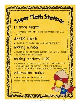 Thanksgiving Super Turkey Math Centers