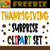 Thanksgiving Surprise Clipart Set - Freebie