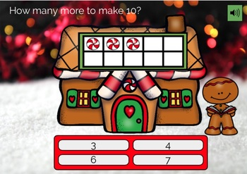 Gingerbread Math BOOM CARDS How Many More