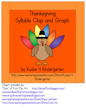 Thanksgiving Syllable Clap and Graph