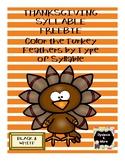 Thanksgiving Syllable Freebie