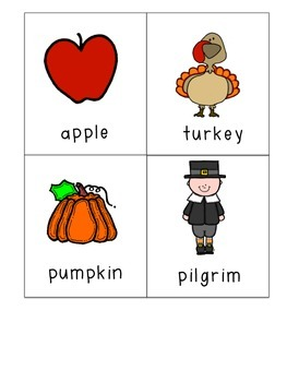 Thanksgiving Syllable Sort