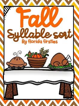 Thanksgiving Syllable Sort