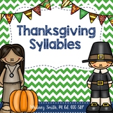 Thanksgiving Syllables