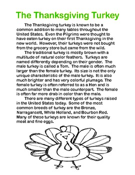 Thanksgiving Symbols and Traditions....A Comprehension Packet