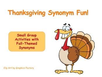 Thanksgiving Synonym Fun