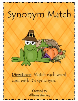 {$1 Deal} Thanksgiving Synonym Match