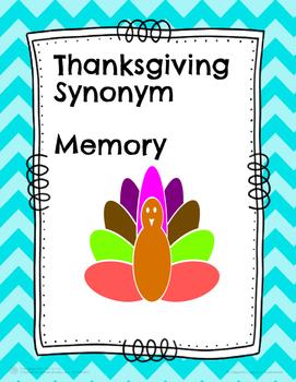 Thanksgiving Synonym Memory