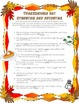 Thanksgiving Synonym and Antonym Practice + Reading Compre