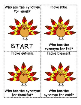 Thanksgiving Synonyms: I have, who has...