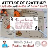 #distancelearning Attitude of Gratitude Thanksgiving Language Middle School