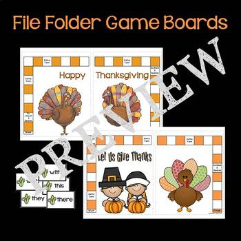 Thanksgiving T, TH, W, WH Sight Words
