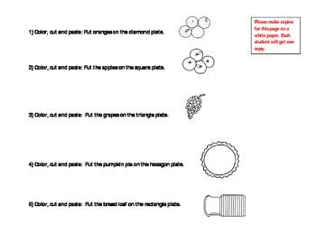 Thanksgiving Table: Basic Geometrical Shapes