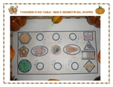 Thanksgiving Table: Basic Geometrical Shapes