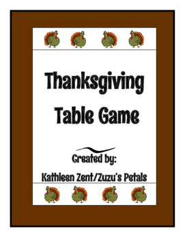 Thanksgiving Table Game