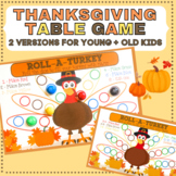 Thanksgiving Table Game for Preschoolers Through Older Kids