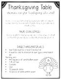 Thanksgiving Table STEM activity