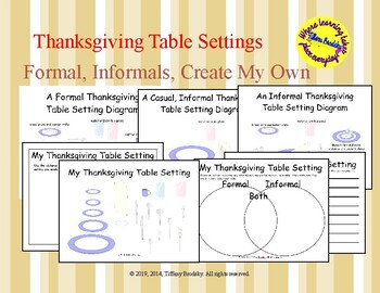 Thanksgiving Table Setting Art and/or Writing Activity