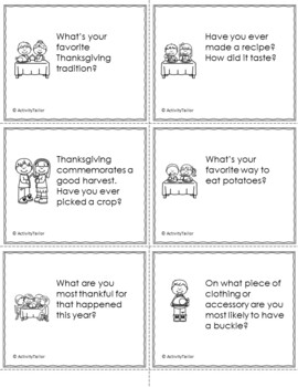 Thanksgiving Table Topics and Conversation Starters