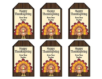 Thanksgiving Tags - Treat Bag Tags