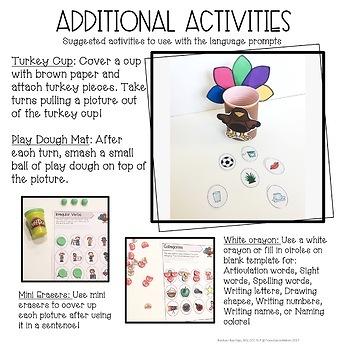 Thanksgiving Talking Turkey Hat: Articulation Craft for Speech Therapy