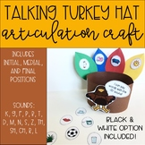 Thanksgiving Talking Turkey Hat: Articulation Craft for Sp