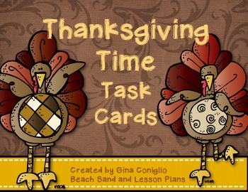 Thanksgiving Time Task Cards