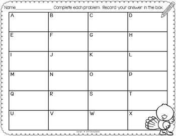 Thanksgiving Task Cards Math Set