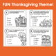 Thanksgiving Task Cards | Parts of Speech