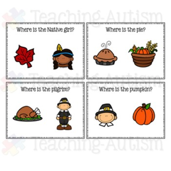 Thanksgiving Activities: Where is it? Task Cards